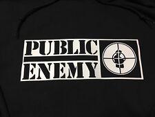 Vintage Public Enemy Black Pullover Hoodie Size LARGE Se Racing Bmx Old School