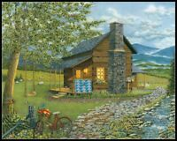 A Smoky Mountain Summer - DIY Chart Counted Cross Stitch Patterns Needlework