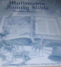 Multimedia Family Bible PC CD folio KJV word search Greek Hebrew lexicon study