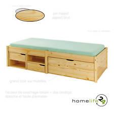 Très beau lit à rangement 90 x 200cm 1 grand tiroir à roulettes 4 étagères 2 ...