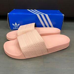 Adidas Adilette Men's Slides Haze Coral Pink BA7538 Size 13 New