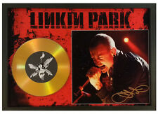 CHESTER BENNINGTON --- LINKIN PARK SIGNED GOLD DISC DISPLAY