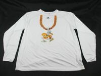 adidas Miami Hurricanes - White Long Sleeve Shirt (2XL) - Used