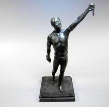 Fackelträger, Bronze, Anfang 20. Jh., ca. 35 x 17 x 14 cm