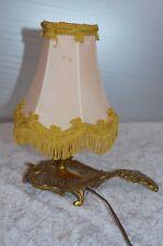 ANCIENNE LAMPE DE CHEVET EN BRONZE DIT RAT DE CAVE AVEC SON ABAT JOUR
