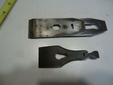 Plane vintage woodworking tool part lot blade +