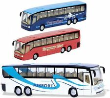 Teamsterz City Coach Airport Bus DieCast Toy Model Vehicles Kids Toy 1:50 Scale