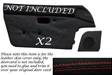 RED STITCH FITS  MAZDA MX5 MK1 MIATA EUNOS 89-1997 2X DOOR CARD LEATHER COVERS