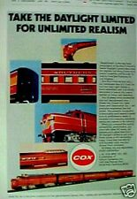 1977 Cox South Pacific Model Railroad Toy Train Set AD