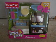 Fisher Price Loving Family Grand Dollhouse New Bathroom toilet tub sink towel