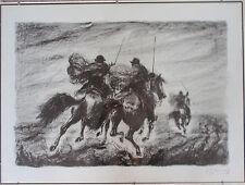 G. F. GONZAGA litografia 60x80 + catalogo con cascella fiume guttuso de chirico
