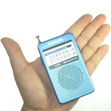 Kaimeda SR-201 AM FM 2 Bands Portable Pocket Size Radio w build-in speaker Blue