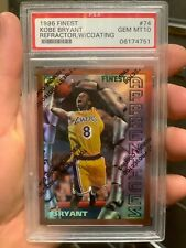 ~AWESOME OLD GRADE PSA 10 FINEST REFRACTOR WITH PEEL KOBE BRYANT 1996 RC TOUGH