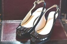 Clarks Skyla Bahama 37.5EU / 4 1/2UK D Fit Black Patent Style Heel Shoes Exc