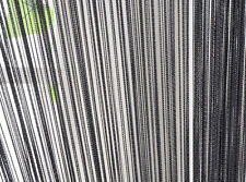 Fly Insect Screen Door Window Fringe String Tassel Curtain 100cm x 200cm Black
