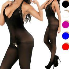 New Bodystocking Bodysuit Women Body Stocking Chemise Sheer Nightwear Lingerie