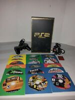 Sony PlayStation 2 PS2 Fat Console System Complete Bundle 1 Controllers 18 Games