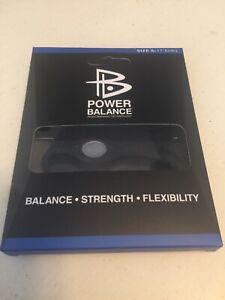 Power Balance Bracelet Wrist Size Small Black With Black Writing Small 17.5cm