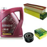MANNOL 5L Extreme 5W-40 Motor-Öl+MANN-FILTER für Renault Kangoo Express 1.5