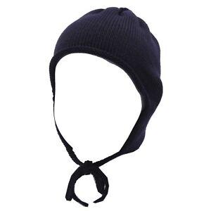 3893Y cuffia bimba girl newborn CATYA wool blue berretto hat