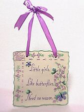 """""""LITTLE GIRLS"""" PLAQUE """"SIGN OF THE TIMES"""" BY ENESCO NEW OTHER"""
