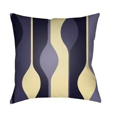 Modern by Surya Poly Fill Pillow, Navy/Taupe/Butter, 18' x 18' - MD103-1818