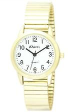Ladies Expander Bracelet Watch. Classic Easy Read Dial Japanese Quartz. R0229 Yellow Gold
