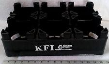 1 Black plastic 2-liter soda pop bottle carrier crate tool desk organizer caddy