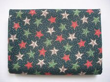 105cm x 112cm Mixed - Christmas Stars - Rose & Hubble - Cotton Fabric Material