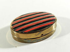 Fifties Metall Email Miniatur PUDERDOSE
