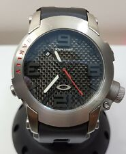 Oakley killswitch watch carbon dial rare edition like new gmt judge mm minute