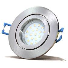 LED Bad Einbauleuchten   230V   5Watt Modul    Edelstahl Optik   Tageslichtweiß