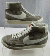 Nike Blazer Grey Men's High Top Lace up Classic Retro Suede Trainers UK Size 7