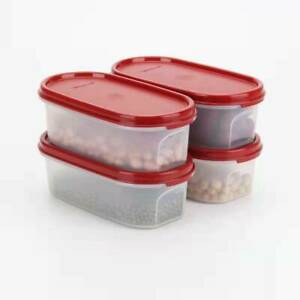 Tupperware Modular Mates Oval I 500ml Cranberry Seal MM 4 Pieces Free Postage