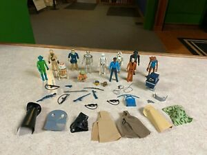 Original Retro Vintage 1977 - 1983 Star Wars Kenner Action Figure Guns Parts Lot