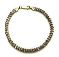 Italy Vintage Oxidized Sterling 925 Mesh Rope Style Twist Fancy Chain Bracelet