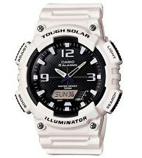 Casio Classic Watch * AQS810WC-7AV Solar Anadigi White Ivanandsophia COD #crzyj