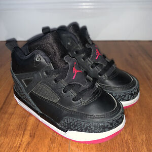 Nike Air Jordan Spizike Black Deadly Pink White TD Toddler Shoes 8c