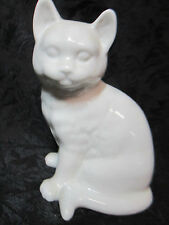 Porcelain Cat Kitten Short Haired Figurine Collectible for Display Table Top