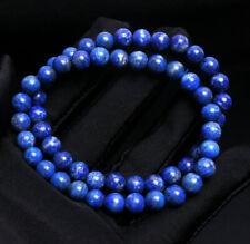 Quartz Crystal Beads Bracelet Aaa 6.5mm 2pcs Natural Blue Lapis lazuli