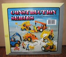 * 6 New Ray 1991 Friction Construction Toys Loader Truck Crane Forklift  Digger