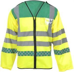 LONG SLEEVED PARAMEDIC EMT AMBULANCE Vest Waistcoat Hi Visibility Class 3