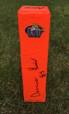 LSU Tigers #5 DERRIUS GUICE Signed Autographed Football End Zone Pylon COA!