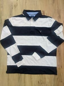 New Gant Rugby Stripes navy white Polo shirt 3xl RRP£95