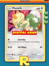 4x Meowth (Caturday) - for Pokemon TCG Online (DIGITAL ptcgo in Game Card)