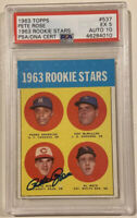 1963 Topps PETE ROSE Signed Autograph Rookie Baseball Card PSA/DNA 10 PSA 5 Reds