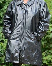 Schwarzer Lackmantel, Regenmantel aus den USA, J.G. Hook - Vintage