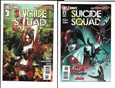 Suicide Squad #1 & #6 Lot:  Harley Quinn New 52 2011 First Prints Origin