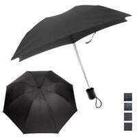 1 Mini Folding Compact Umbrella Travel Portable Black Super Light UV Protection