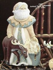 "Santa with Reindeer 10"" Ceramic Bisque, Ready to Paint"